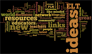 What have you gained from using Twitter for professional development? (a wordle)