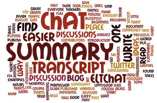 eltchat summary wordcloud