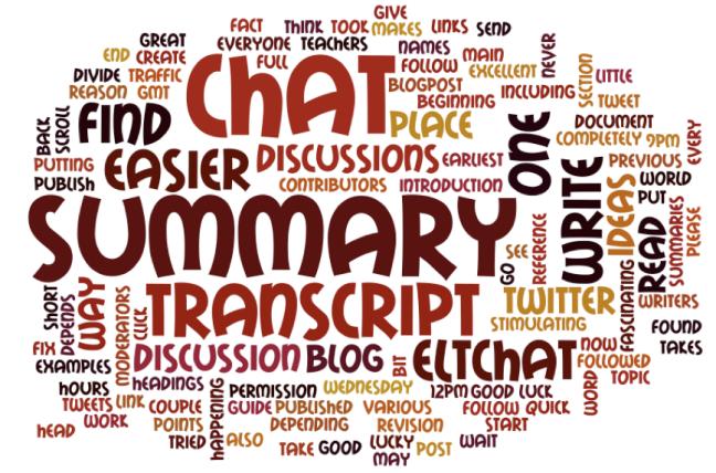 eltchat summary wordcloud