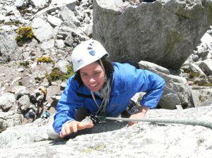 Lizzie climbing