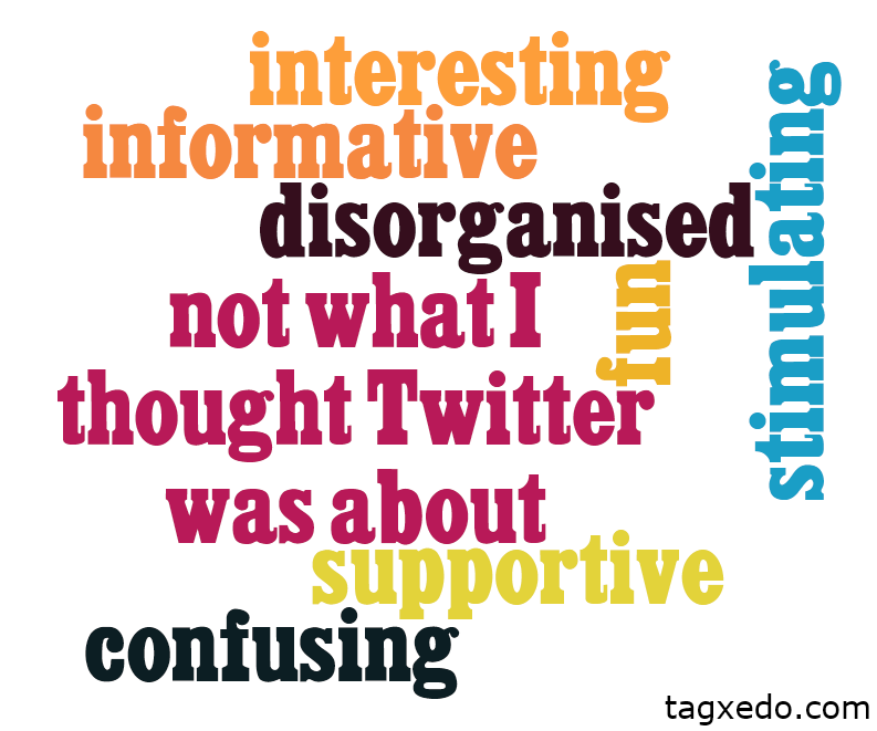 Twitter adjectives