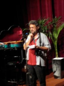 Rakesh reading his funny poems