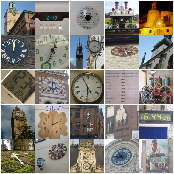 Clocks photo mosaic