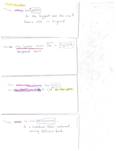 Examples of highlighted slips of paper 1