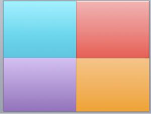 Four boxes coloured