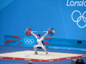 Weightlifting - an Egyptian lifter