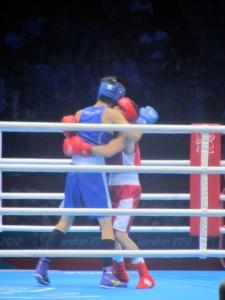 Boxing - an Algerian v. a Japanese fighter