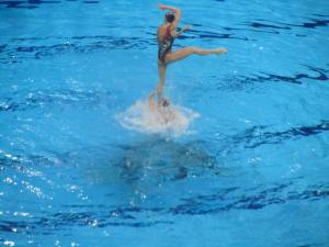 Synchronised swimming - the winning Russian team during their free routine