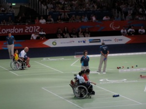 Nigel Murray in the boccia