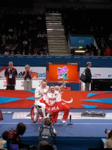 Polish wheelchair fencing gold medal winner and coach
