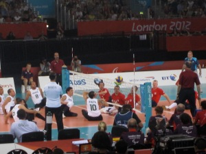 GB v Brazil sitting volleyball