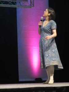 Sandy Millin presenting her pecha kucha at IATEFL Harrogate 2014