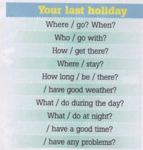 Holiday questions from NEF Pre-Int SB p17