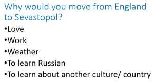 Why would you move to Sevastopol?