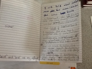Pre-intermediate student journal sample