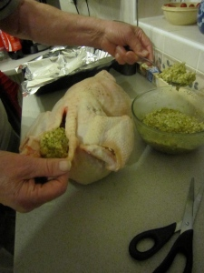 Stuffing the turkey