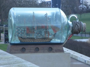 Ship in a bottle - Greenwich Park