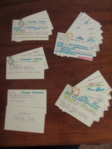 Exam paper 1 index cards