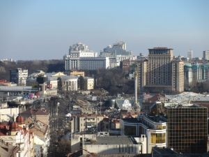 Maidan from Saint Sophia's Cathedral