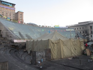 Protesters' tent