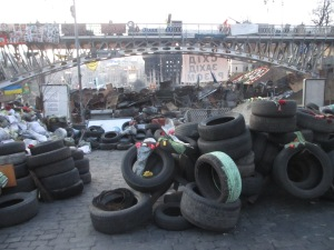 Tyres beyond the bridge