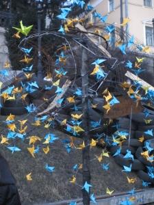 Ukraine peace cranes