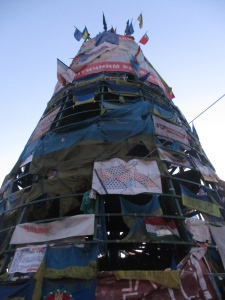 Christmas tree flags