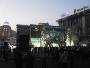 Stage in the twilight