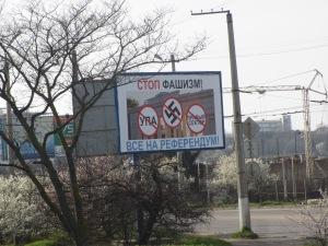 'Stop fascism' billboard