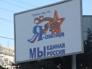 I am proud to be from Sevastopol. We are one Russia.