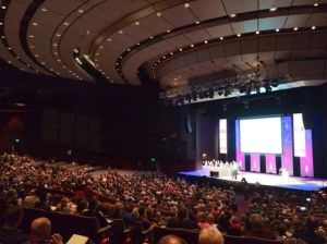 Harrogate International Centre auditorium (photo by James Taylor)