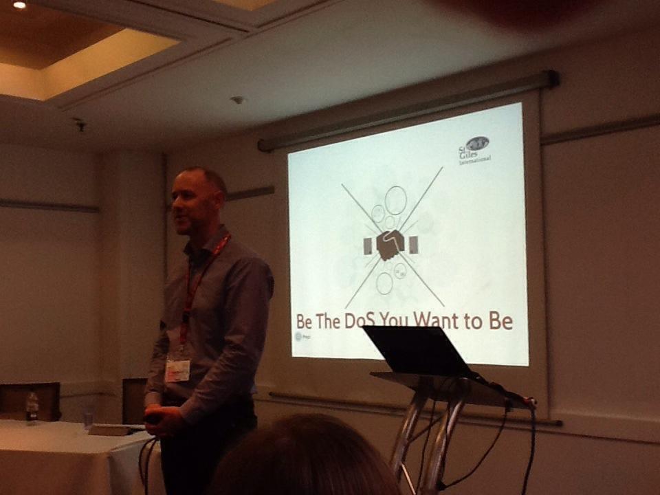Josh Round presenting at IATEFL Harrogate 2014