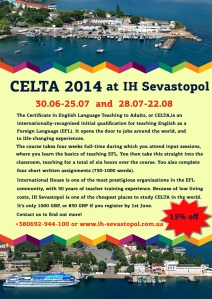 CELTA 2014 at IH Sevastopol