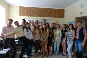 Happy students and trainees at the end of the July 2013 course