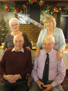 Grandma and grandy, with grandy's brother and his wife,  December 2012