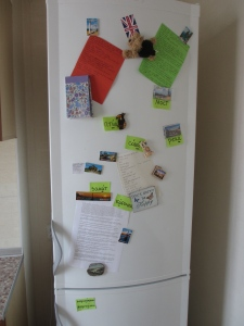 Russian has taken over my fridge!