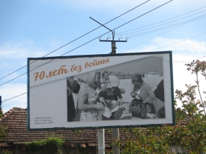 70 years without war - billboards