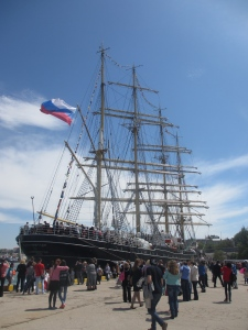 Kruzenshtern - a four-masted tall ship which visited Sevastopol for Victory Day