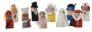 Ikea finger puppets