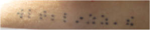 Braille tattoo