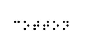 'Cotton' in braille