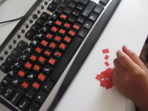 Putting braille letters on the keyboard