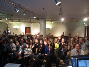 Lots of wonderful people at my IATEFL 2014 conference presentation