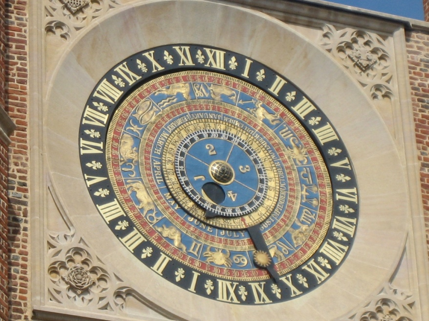 Hampton Court Palace clock (24 hours on one face)
