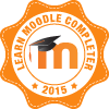 Learn Moodle complete badge