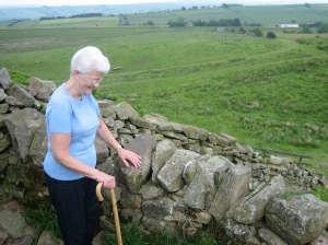 Grandma at Hadrian's Wall