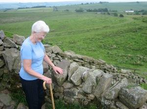 Grandma at Hadrian's Wall