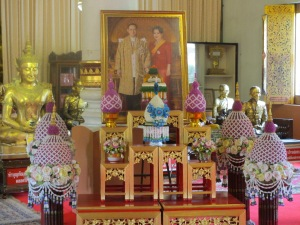 Shrine to the King and Queen in a wat