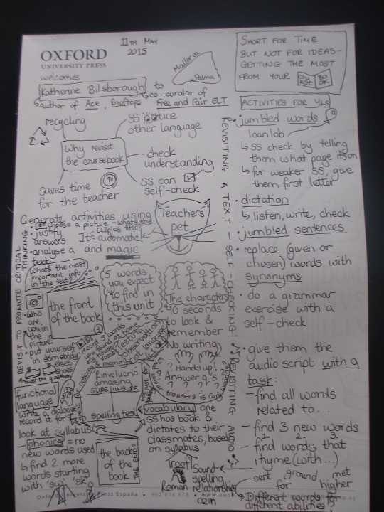 My first ever sketchnotes - from Katherine Bilsborough's talk