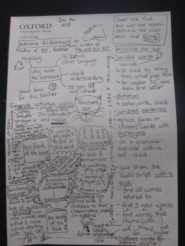 My first ever sketchnotes - from Katherine Bilsborough's talk
